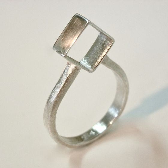 Sterling silver geometric style ring by ntm. jewellery