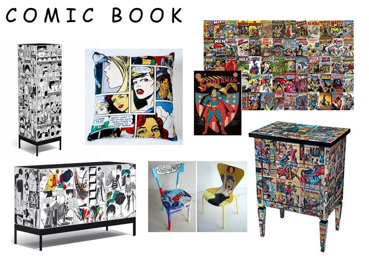 I Love Comic Book Art And Comic Book Movies I Think Adding Stylish Comic Artwork With Furniture