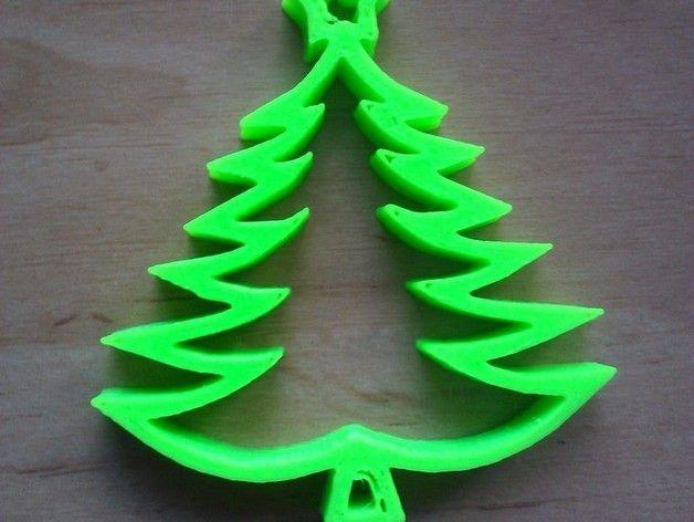 karácsonyfadísz 3D nyomtatóval