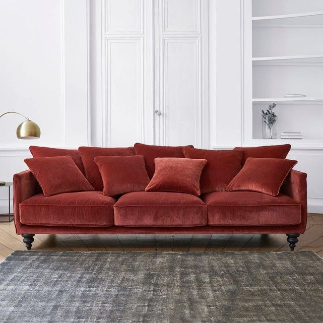 Canape Convertible Velours Lazare Sofa En Velours Decoration