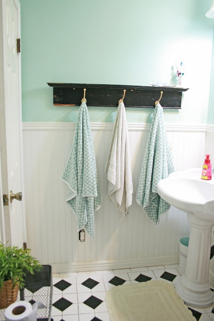 Color, Beadboard, Affordable Tile Floor, Hooks For Kid