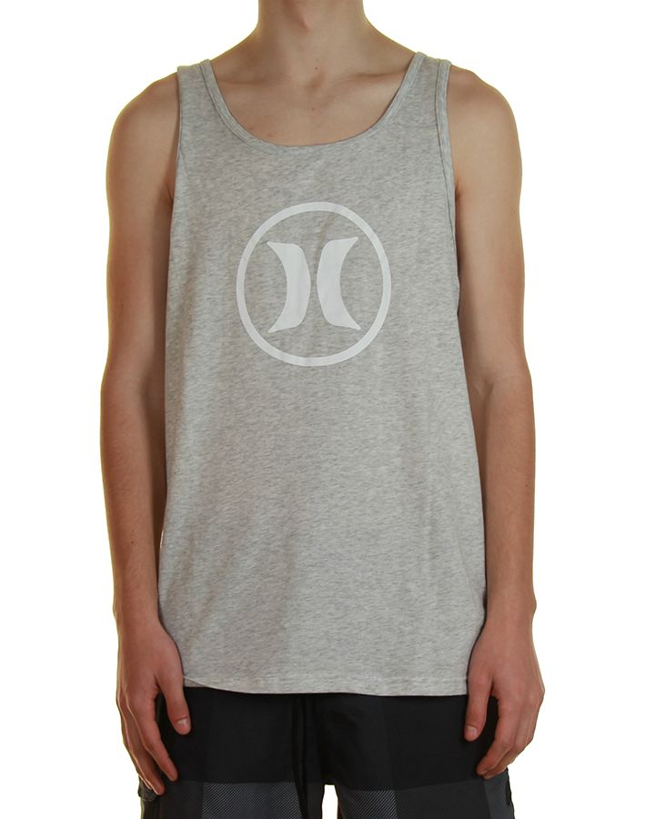 Inseption - Mens - Hurley - Dri-Fit Block Party Singlet - Heather Grey