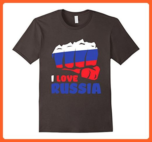 Mens I Love Russia Independence Day T Shirt Russian Heart Gifts 2XL Asphalt - Holiday and seasonal shirts (*Partner-Link)