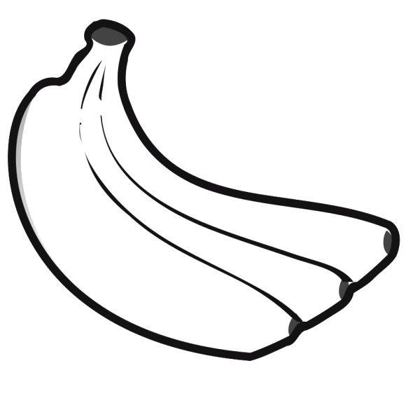 Banana Fruit Is Healthy Food Coloring Pages | VBS....Fruit ... A Coloring Page