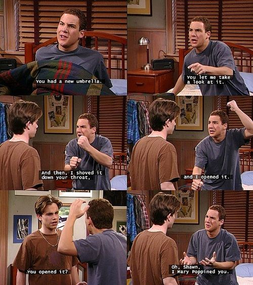 Cory Matthews has nightmares of killing his best friend. Lol, love Cory and Shawn. Love Boy Meets World!