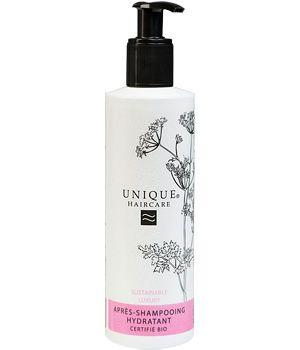 Unique - Après shampoing hydratant cheveux secs et abîmés - Ecocert, 99% d'origine naturelle