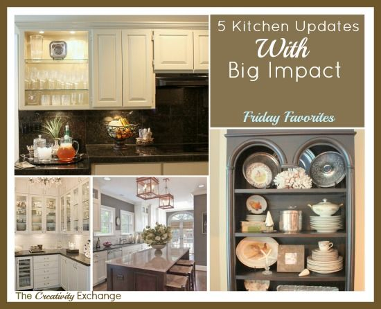 5 Easy Kitchen Updates with Big Impact {Friday Favorites}- The Creativity Exchange: Colors Combos, Big Impact, Kitchens Updates, Paintings Colors, Kitchens Ideas, Colors Friday, Paint Colors, Easy Kitchens, Islands Kitchens
