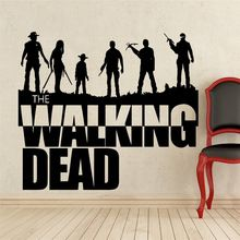 Wall Decal Sticker Sticker Vinyl The Walking Dead Collection 3 Banksy Wall Art Zombie Movie Wall Stickers Home Decor #T193(China (Mainland))