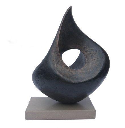 abstract_bronze_resin_sculpture_lynn_warren_just_a_thought