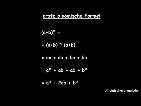Binomische Formeln - erste - Tutorial