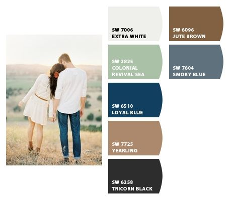 Could use these colors through out an entire house