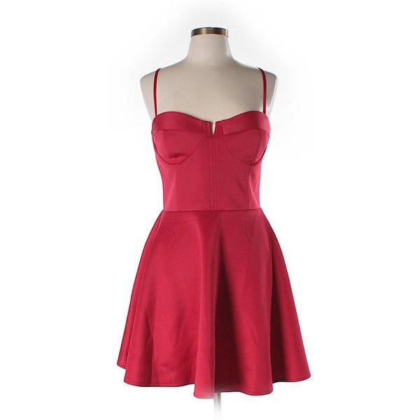 ASOS Cocktail Dress (380 MXN) ❤ liked on Polyvore featuring dresses, red, asos dresses, red cocktail dresses, asos, red dress and asos cocktail dresses