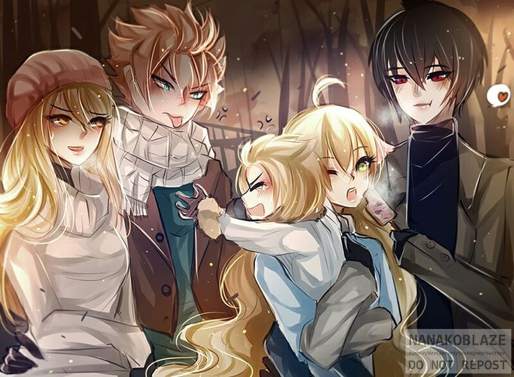 Natsu's hand is around Lucy's waist and Zeref is feeding Mavis aaaand there is and their child which means they*cough* did it, hihihi