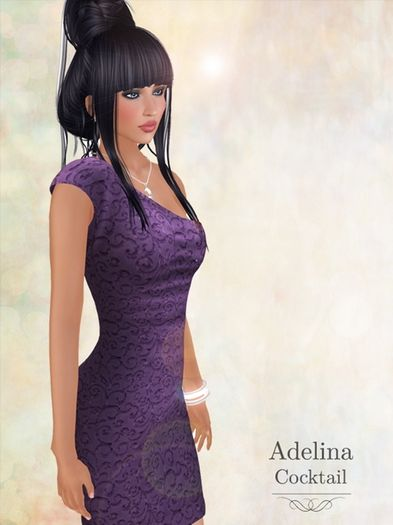 Pacifica Fashion - Adelina Cocktail Mesh Dress available in the Kitely Market in 5 different colors: red, blue, black, green and purple.