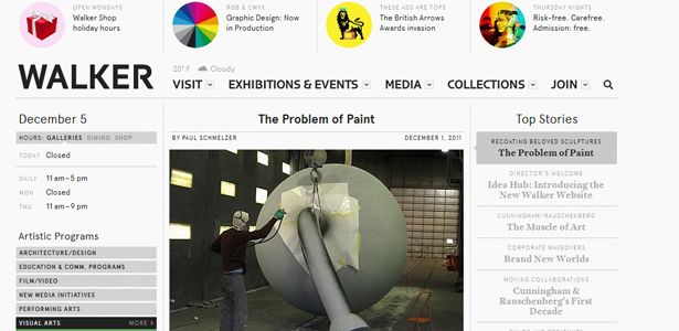 Museum as Node: What to Love About the Walker Art Center's New Website via The Atlantic