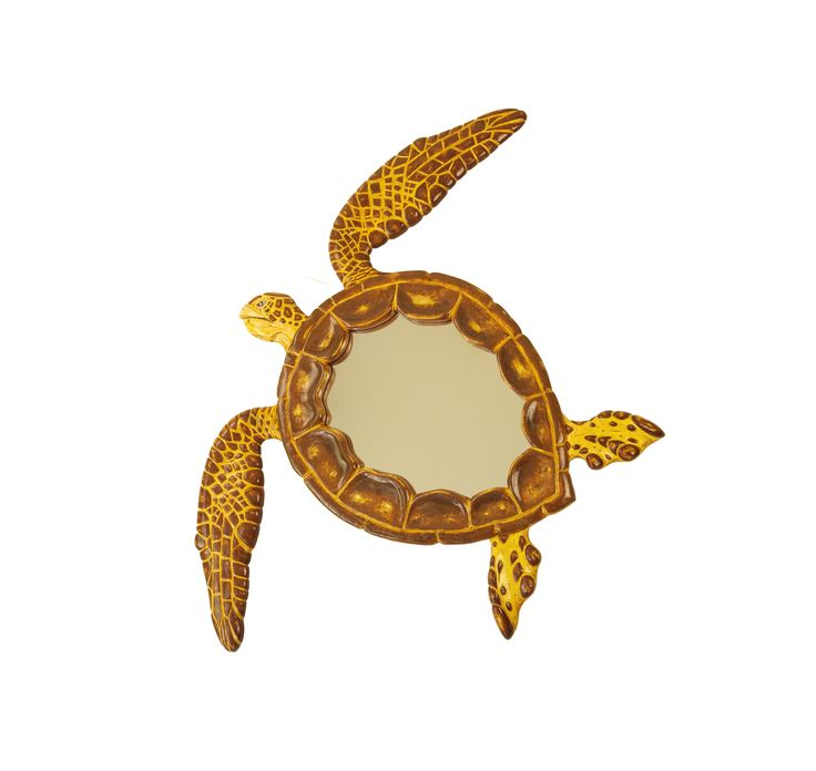 Graciously swimming Sea Turtle Wall mirror. True art, a handmade masterpiece from MarvellousMirrors collection. Unique and rare finds..! Enjoy the Sea Turtles.