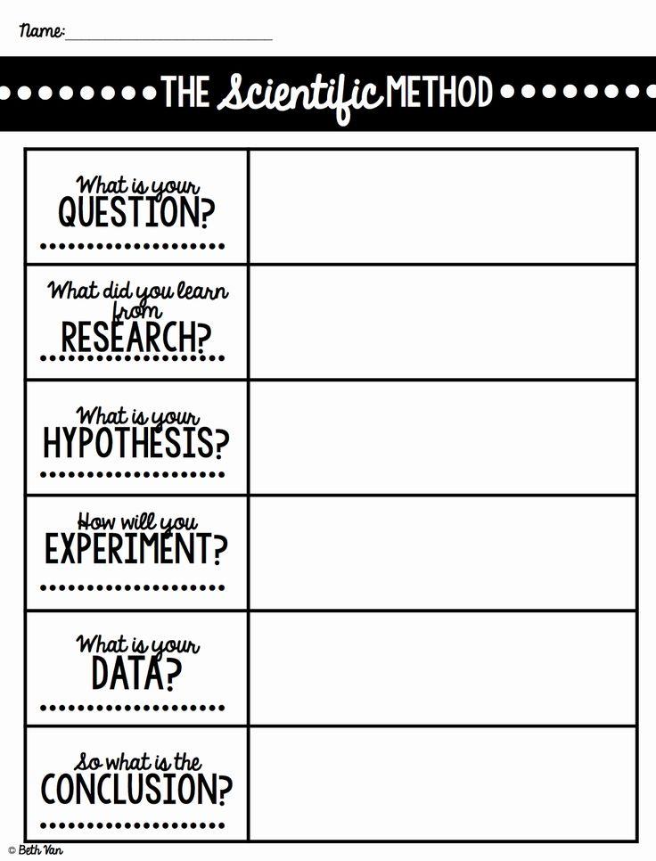 scientific method worksheet pdf middle school