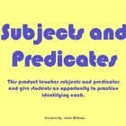 This product introduces subjects and predicates in a mini-lesson.  Students are given definitions, examples and opportunities to practice identifyi...