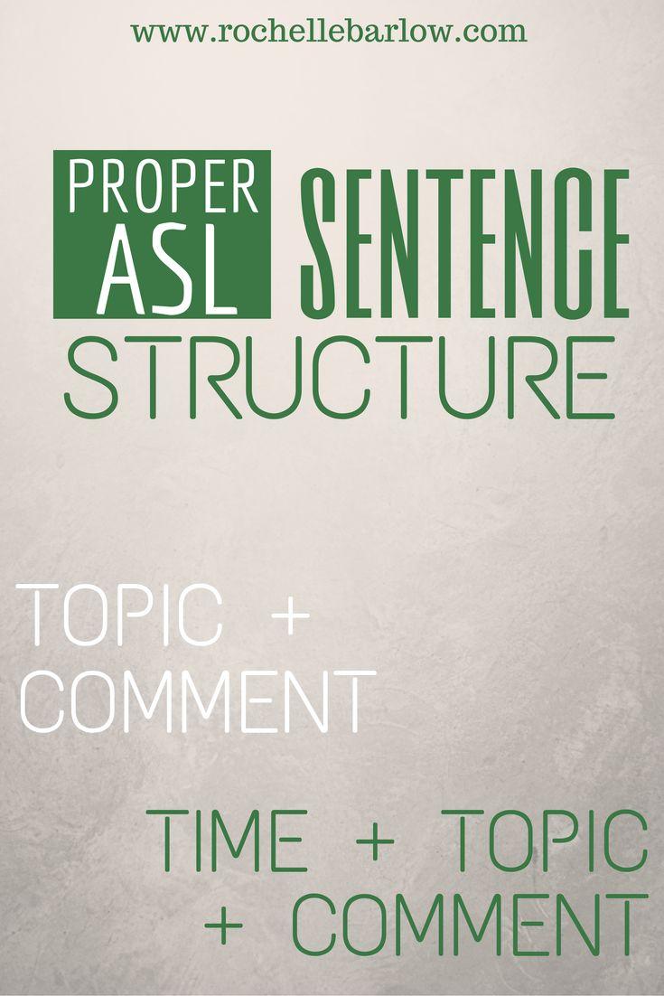 sentence order
