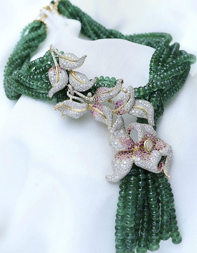 Farah Khan Orchid Necklace