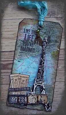 Creative Paper Arts at Everything Scrapbook & Stamps: Paris Tag available
