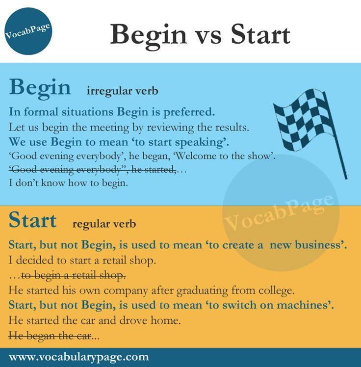 Begin vs Start