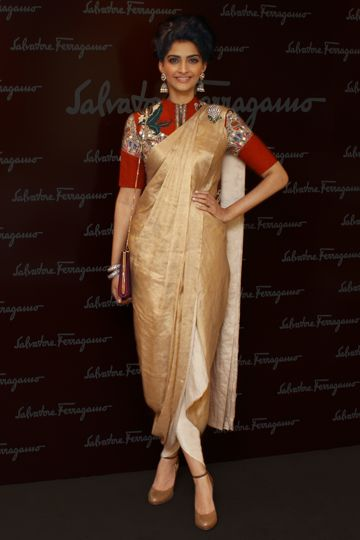 Red Bottoms Flair: Sonam Kapoor in Sarees