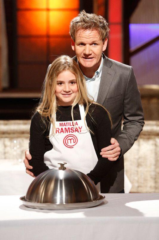 Matilda Ramsay with her dad, Gordon Ramsay, on 'MasterChef Junior'