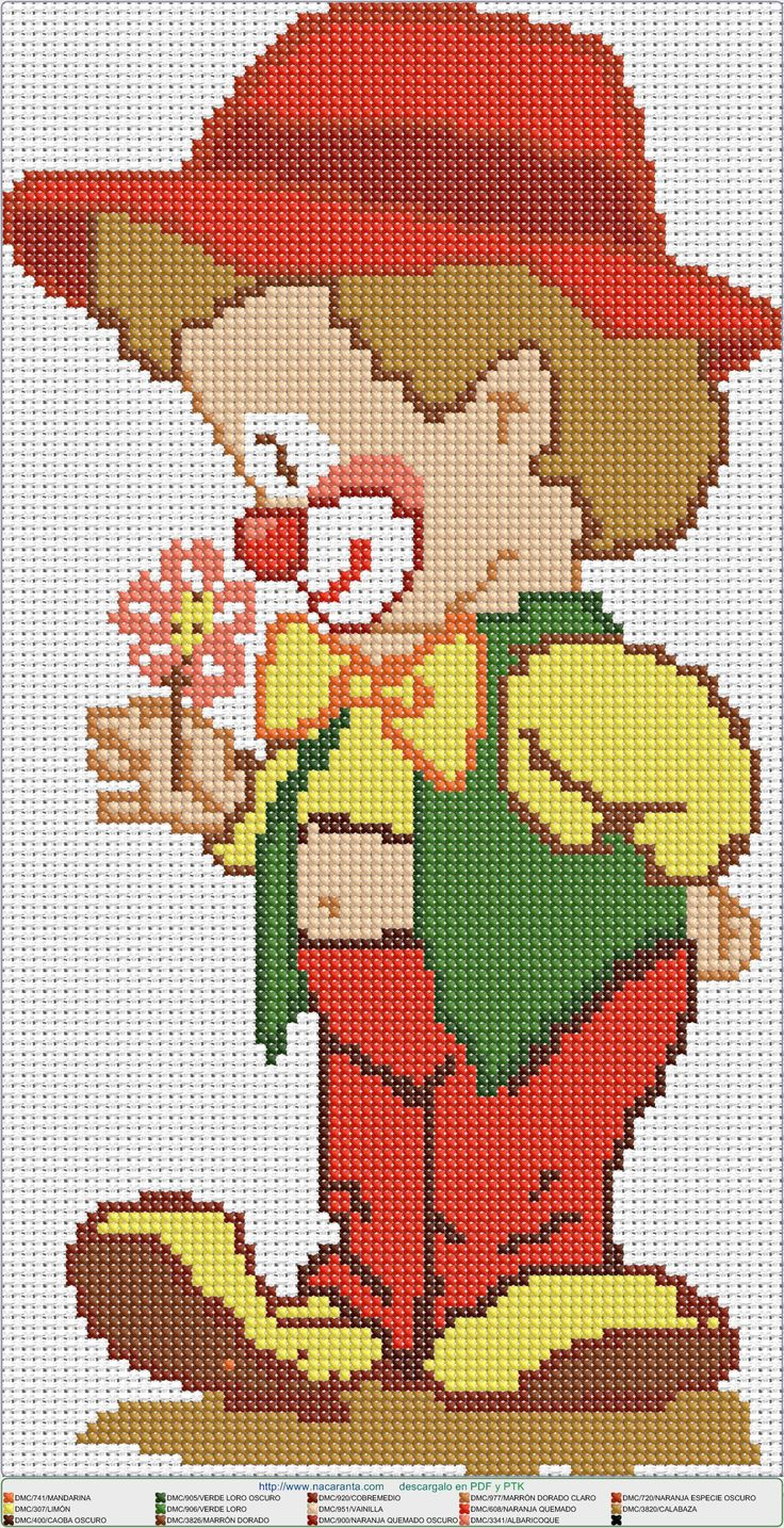 Payaso EN PUNTO DE CRUZ, cross stitch pattern