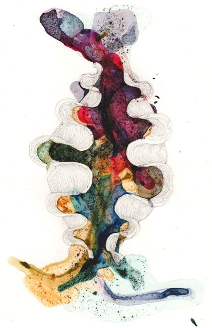 "Kia Neill - ""Residual Form & Uncategorized Form Series"" - Wet Drawing"