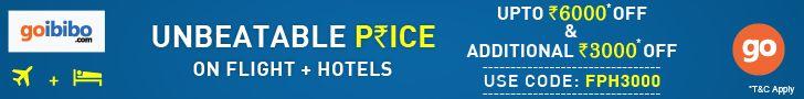 GoIbibo.com: Unbeatable offers on Flight + Hotel combo | #Coupon: FPH3000