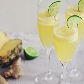 Pineapple Ginger Champagne Cocktail [hello_natural ]