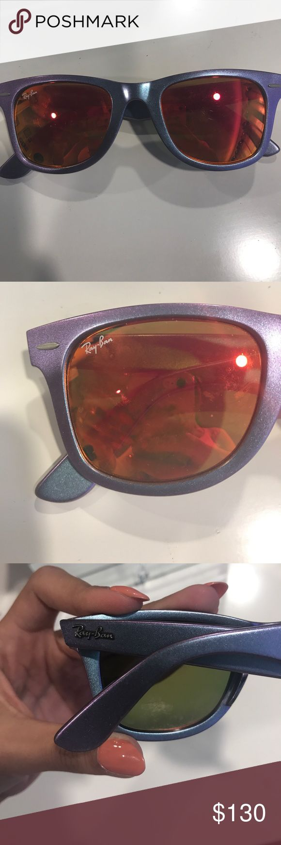 Ray Ban Wayfarer mirrored sunglasses Great condition. Minor scratches, but not noticeable Ray-Ban Accessories Sunglasses