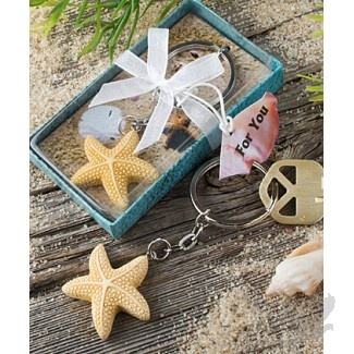 Star Design Keychain Favor
