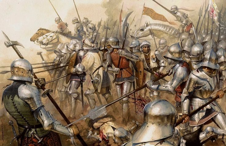 The Battle of Bosworth Field was the last significant battle of the Wars of the Roses, the civil war between the Houses of Lancaster and York that raged across England in the latter half of the 15th century. Fought on 22 August 1485, the battle was won by the Lancastrians. Their leader Henry Tudor, Earl of Richmond, by his victory became the first English monarch of the Tudor dynasty.  **Ancestors fought in this battle**
