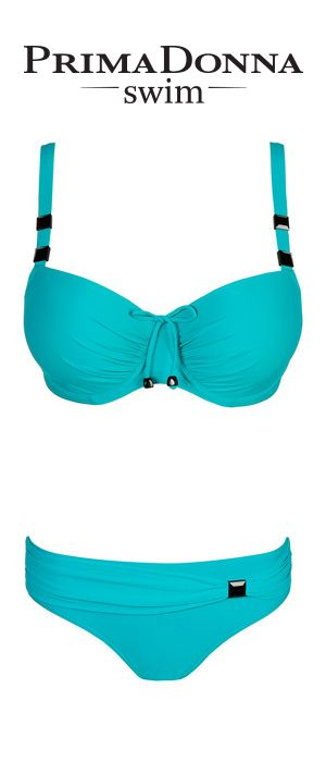 #PrimaDonnaSwim Cocktail in Summer Green #lingerie http://www.bitsoflace.com/brand-collections/prima-donna-swim.html