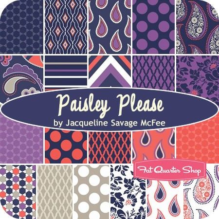 Paisley Please Fat Quarter Bundle Jacqueline Savage McFee for Camelot Cottons