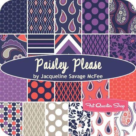 Paisley Please Fat Quarter Bundle Jacqueline Savage McFee for Camelot Cottons