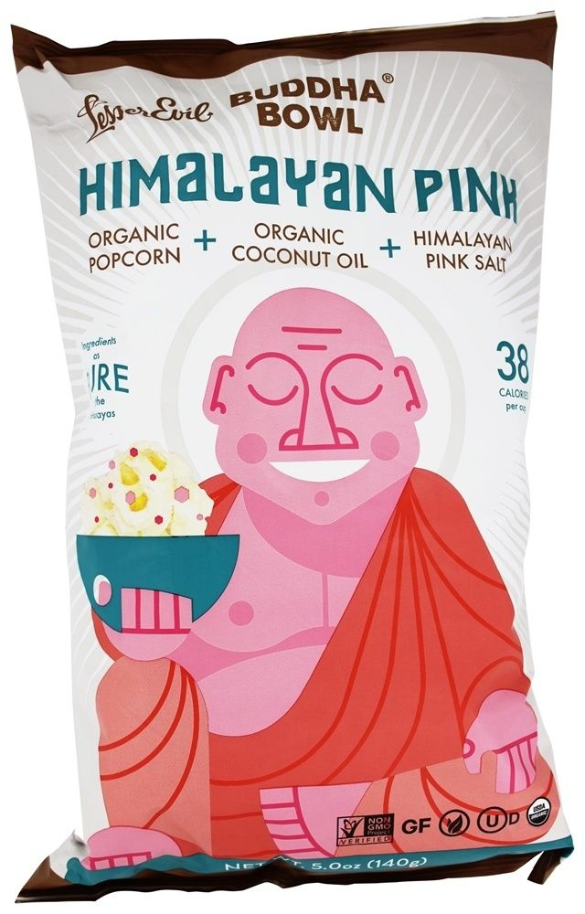 Comprar mal menor - Buda tazón de palomitas de maíz orgánico rosa del Himalaya - 5 oz en LuckyVitamin.com