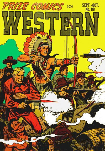 Prize Comics Western #89 - Comic Book Cover Poster – Available To Order Now: http://aimcollectibles.blogspot.com/2015/10/prize-comics-western-89-poster.html