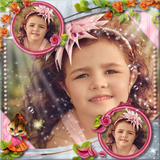 """""""So girly"""" by Kastagnette - Template by Didine & Photo by Paola Aldewliy Photography with friendly autorisation (thanks)"""