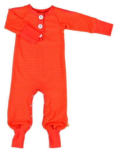 Rood Calle playsuit met rode strepen - Albababy