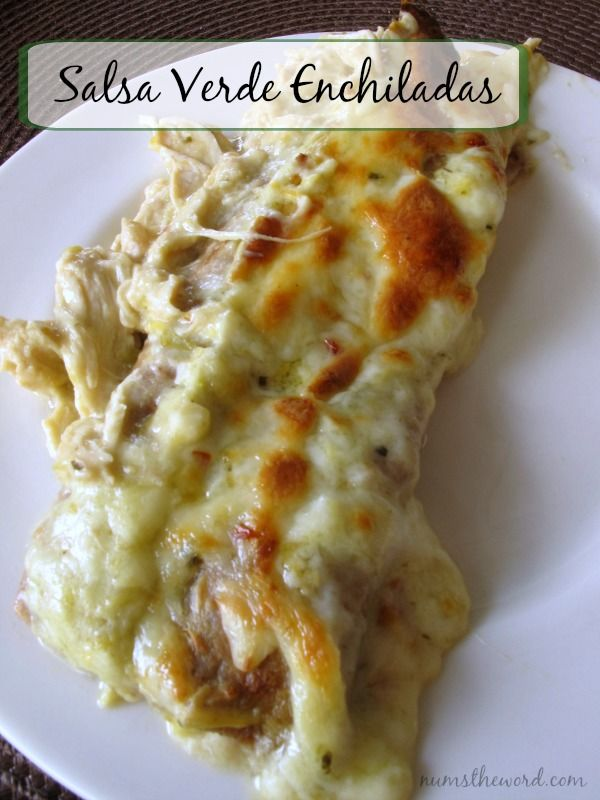 Salsa Verde Enchiladas - If you love creamy chicken enchiladas, this version with simple ingredients is definitely one to try! They're creamy and cheesy and full of flavor. An easy weeknight dinner that everyone will love.