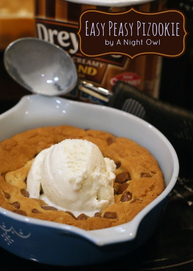 How to make your own BJ's or Oregano's Pizookie (Pizza Cookie) at home! | A Night Owl