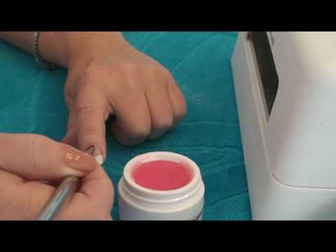 French Manicure Gel Nail. Do your own nails at home. Gel Nail Kit