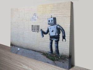 Banksy-Robot-Canvas-Print-Australia