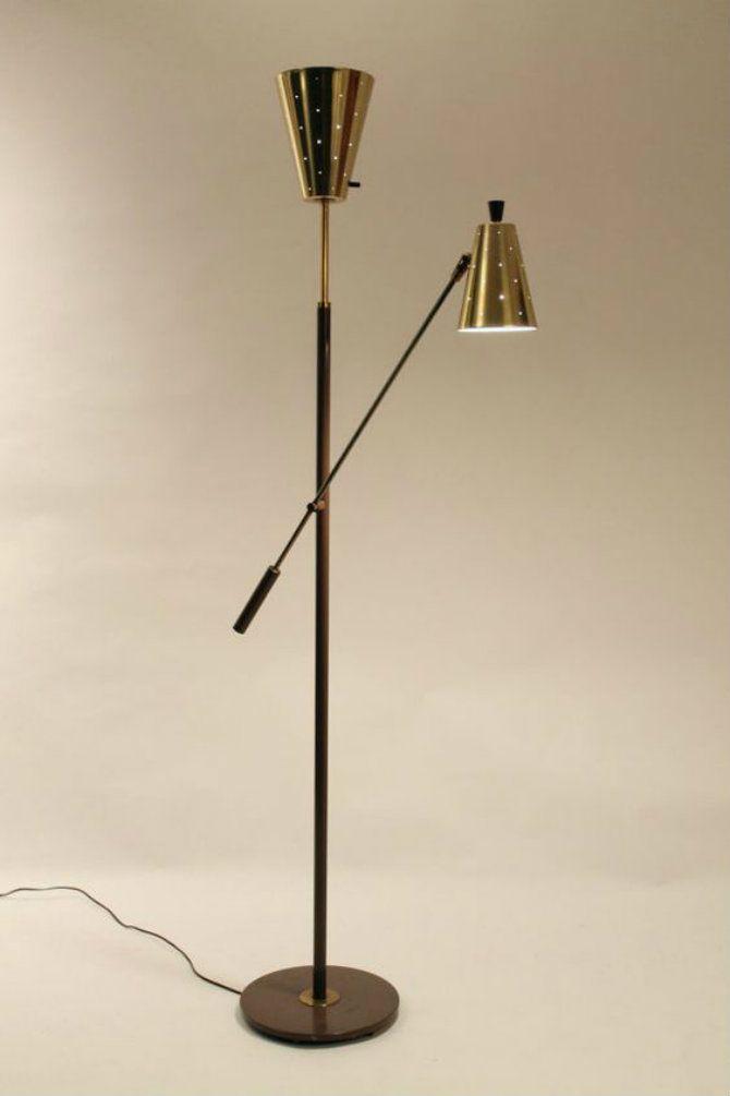 RARE GERALD THURSTON lightolier standing lamp | Mid-Century Modern Floor Lamps for your living room designs http://modernfloorlamps.net/mid-century-modern-floor-lamps-living-room-designs/