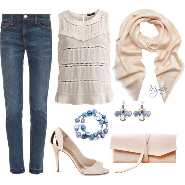"""Cropped jeans for a night out"" by cafemystra on Polyvore"