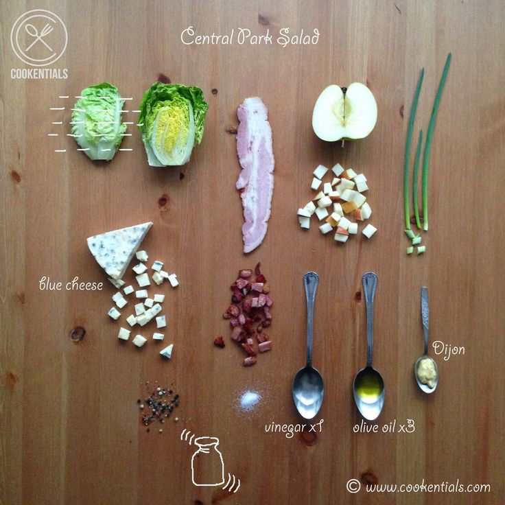 Central Park Salad...more www.cookentials.com