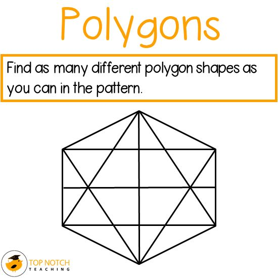 Here you'll find some fun ideas for teaching your students about polygons, including free activity sheets you could use in a math center. http://topnotchteaching.com/lesson-ideas/polygons/